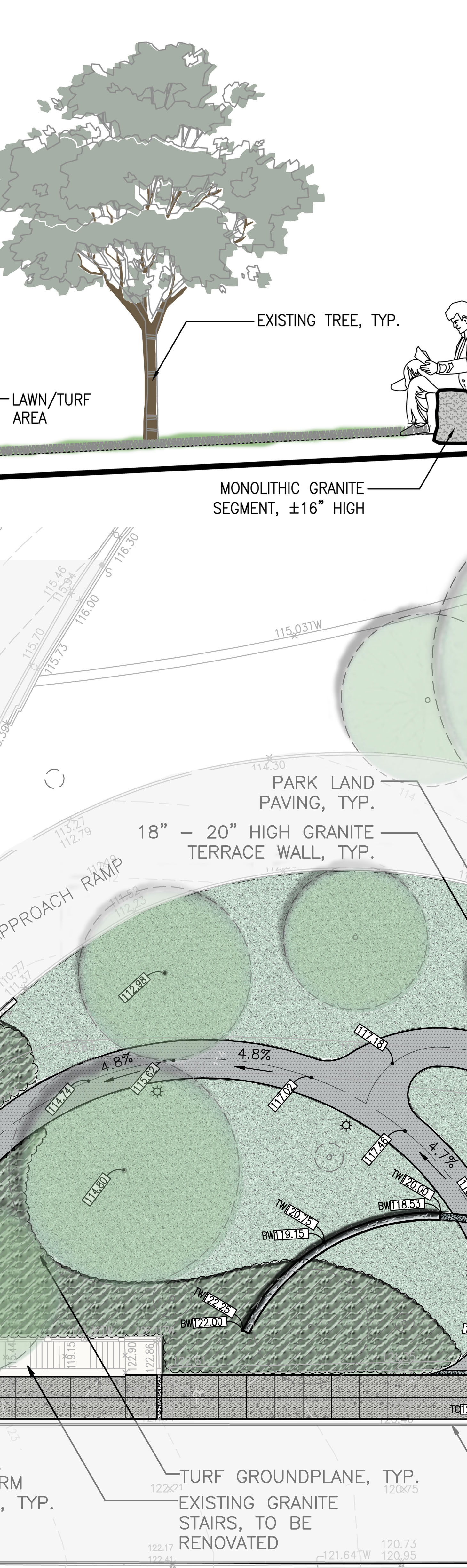 Longfellow Site Plan-Section